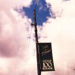 1989 100th Anniversary banner for St Teresa Parish Chicago