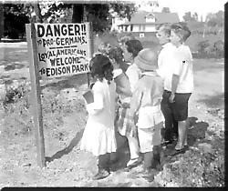 anti-German sign Chicago