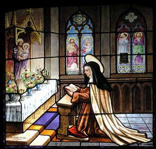 St Teresa of Avila stained glass